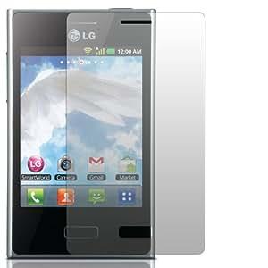 "2 x Slabo Displayschutzfolie LG Optimus L3 E400 Displayschutz Schutzfolie Folie ""Crystal Clear"" unsichtbar MADE IN GERMANY"