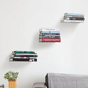 Tied Ribbons 2 Piece Metal Wall Mounted Book Shelfs, Black