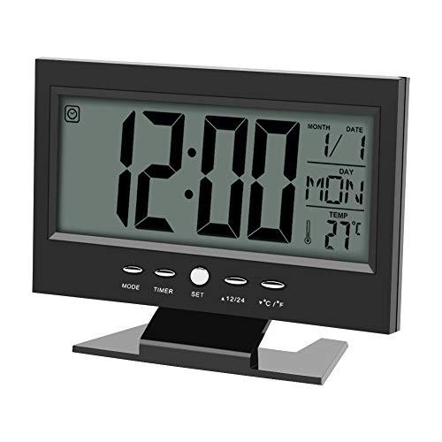 Multifunción Control sonido Gran pantalla LCD digital