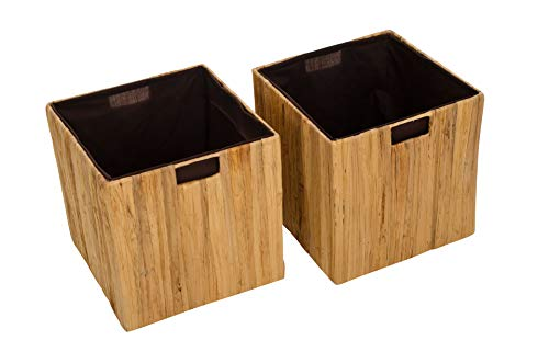 "2 Regalkörbe, Box \"" TAO\"" für Ikea Expedit/Kallax, natur, 32cm"