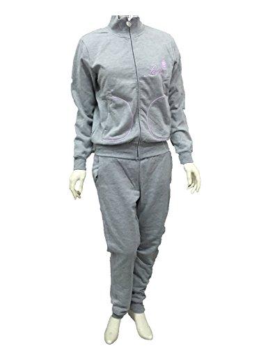 tuta pigiama casa felpata donna RENATO BALESTRA con zip e tasche art.RF.49 (TG.S, GRIGIO)