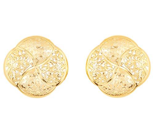 Prüfstein indischen Bollywood Bahubali inspiriert Verführerische und Artistic Grand Designer Schmuck Ohrringe für Damen in gold Ton (Designer-inspirierte Ohrringe)