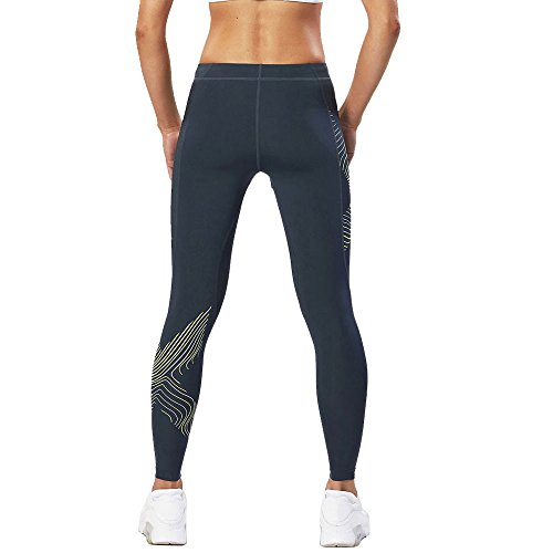 2XU Hyoptik Women's Luminescent Kompression Strumpfhosen Ombre Blue/ Luminescent Logo