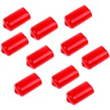 MagiDeal 10 Pieces Snooker Billiard Cue Tip Rubber Protector Red