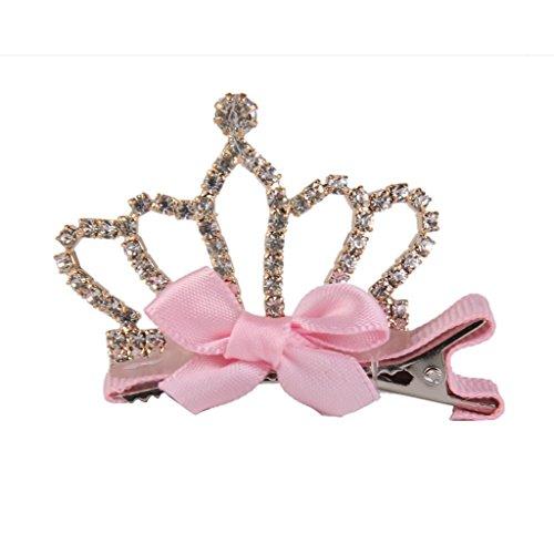 Light Pink Clip (Der Krone der Lookout 1Süße Mädchen Form Haar Clip Weihnachten Geburtstag Haar Zubehör (Light Pink))