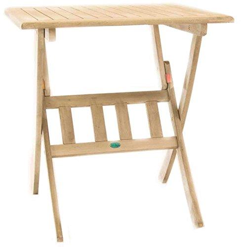 Amicasa. Table de jardin pliante en bois carré 70 x 70 Gris Vipiteno