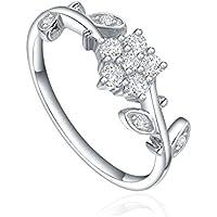 STARHARVEST-Anello con sigillo in argento 925 a forma di fiore, in argento sterling, regalo per anniversario nozze, con anelli, compleanni, paragrafo 7