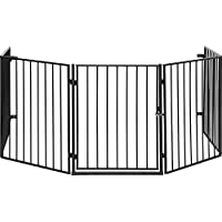 IB-Style - Hearth Gate/Safety Barrier/Stove & Fire Guard CATO Metall Black or Silver - 5 x 60 cm = 3 m - Double Locked