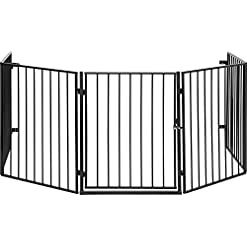 ib style® CATO canceletto per fornelli o camini |metallo| flessibile | espandibile