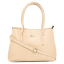 Lavie Beige Color Satchel