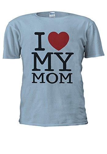 Mothers Day I Love My Mom Heart Novelty Men Women Unisex Top T Shirt-S (Mom-tattoo Heart I)