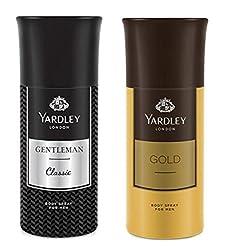 Yardley London Deodorant For Men Gentleman And Gold Combo Pack 2 (150 ml)