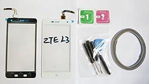 JRLinco Für ZTE Blade L3 Neu Display Scheibe Touchscreen Digitizer Glass Ersatz Weiß + Werkzeug & klebende +Cleaning alcohol Wiping package