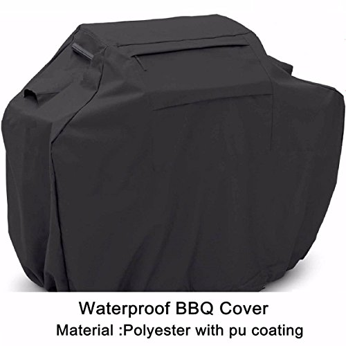Blin Nero Impermeabile per Barbecue, barbecue grill a gas Heavy Duty Cover per (Jenn Air Gas Grill)