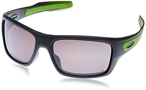Oakley Herren Turbine Sonnenbrille, Grau (Matte Dark Grey/Prizmdailypolarized), 65 -