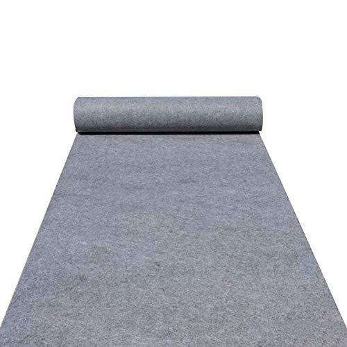 JIAJUAN Grau Teppich Läufer zum Hochzeiten Zeremonie Einkaufszentrum Veranstaltung Performance Öffnung Ausstellung (Farbe : Gray-2mm, größe : 1.2x10m)
