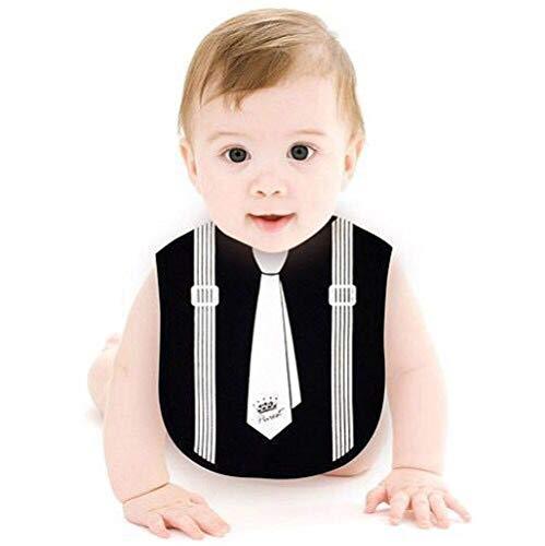 FeiliandaJJ Lätzchen Baby Toddler Bib Krawatte Muster Jungen Mädchen Wasserdichtes Baumwolle Saliva Handtuch Abwaschbar (Schwarz)