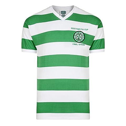 Celtic Glasgow–1980Scottish Cup Final T-shirt M Vert/blanc