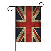 YATELI Double Sided Vintage UK Union Jack Patriotic Flag A Memorial Day Polyester House Garden Flag Banner 28x40 Inch for Anniversary Family Garden Decor
