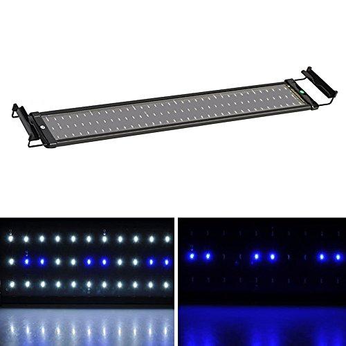 SolarNovo LED Aquarium BeleuchtungAufsetzleuchte IP67 Abdeckung LED Lampe AufsetzleuchteAbdeckungKlemmleuchte Clip Lampe für 30-90cm Aquarium (für Aquarium 70-90cm)