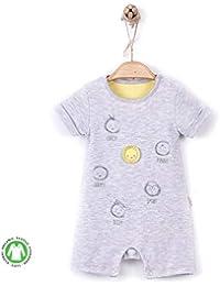 358280cd952de Sevira Kids - Combishort barboteuse bébé en coton biologique - Emotions