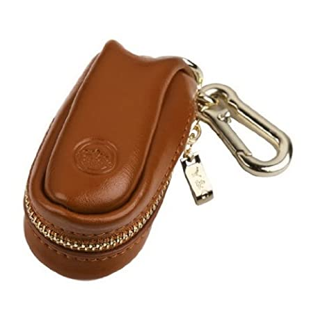 YCM050105 Brown Genuine Leather Key Ring Holder For Working With Gold Stainless Steel Hook By Y&G