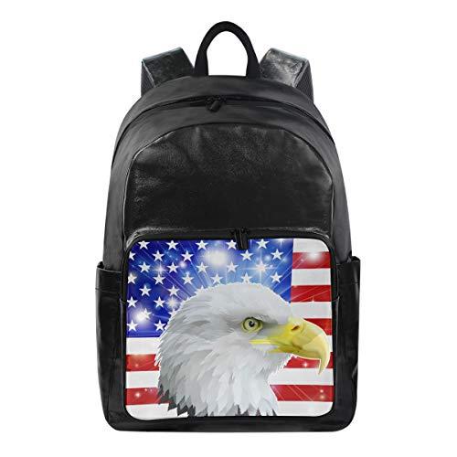 Lustiger Rucksack USA American Flag Eagle Schultertasche Wandern Camping Daypack Schule Reise Computer Tasche für Kinder Jungen Mädchen Männer Frauen - American Eagle-kleidung