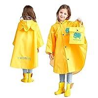 Kinderen Regendichte Regenjas GodBank Store Kids Regendichte Regenjas Cartoon Regenjas voor Kinderen Waterdichte Poncho met Opbergtas