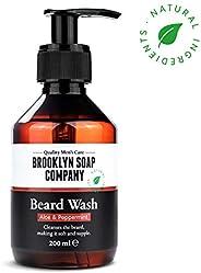 Shampoing à barbe, savon à barbe Beard Wash 200 ml - nettoyage et entretien barbe - cosmétiques naturels de la