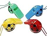 HAAC 4er Set Schiedsrichterpfeife Trillerpfeife Signalpfeife Pfeife mit Kordel Fußball