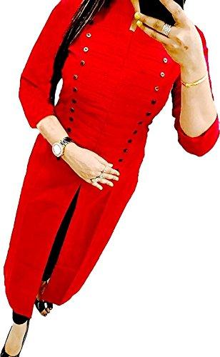 Exclusive Red cotton Kurta For Women, Cotton Kurtis For Girls, Kurtis,Latest Kurtis...