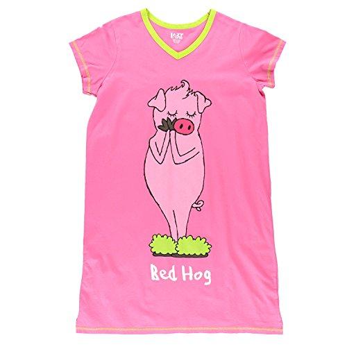 Lazy One Womens Bed Hog Nightshirt V Neck