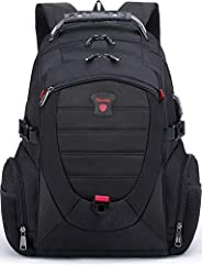 Tzowla Travel Laptop Backpack,Anti-Theft Water Resistant Business Luggage with TSA Lock&USB Charging Port