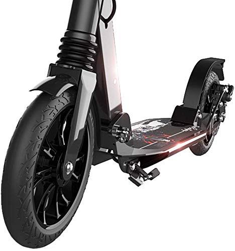 GBX Scooter Bars, Erwachsene Scooter, Scooter Räder, Kick-Schwarz-justierbarer Erwachsene mit Doppelaufhebung, Folding Kick mit Big Wheels for Teens Kinder Alter 12 nach oben, 220lbs Gewicht Kapazitä