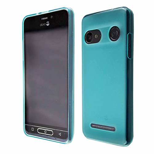 caseroxx Hülle/Tasche Doro 8035 Handy-Tasche, Wallet-Case Klapptasche in schwarz (TPU-Hülle, Blau)