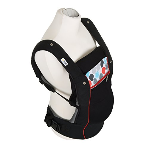 Fisher Price Hauck Close to me Ergonomic Baby Carrier New-born, Front, Breathable, Adjustable, for Infants from Birth up to 12 kg, Lumbar Support Belt, Black  Hauck Fun for Kids Ltd