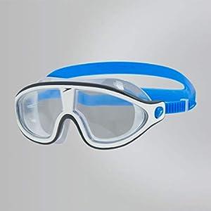 Speedo Biofuse Rift, Occhialini Unisex Adulto, Multicolore (Bondi Blue/White/Clear), Taglia Unica