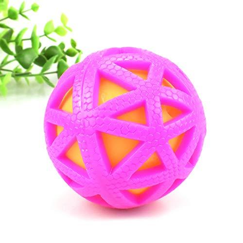 GZXHWWJ Hundespielzeug Mutter Vocal Ball Double-Layer-Größe Ball Pet Toy Wird die Grenze der amüsierten Puzzle klingeln Spielen Sie viele Funktionen 7.5 Red - Ananas Grenze