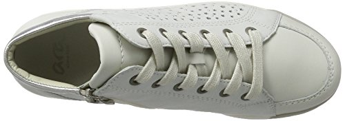 Ara - Rom-stf, Pantofole a Stivaletto Donna Weiß (weiss,offwhite/silber)