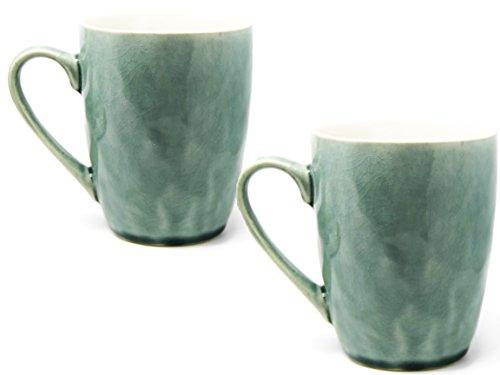 Bada Bing 4er Set Tassen Aqua Türkis Geschirr Spirit Tassen Hochwertig Keramik Kaffeetassen Kaffeebecher 22