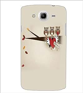 Printdhaba Owls D-4410 Back Case Cover For Samsung Galaxy Mega 5.8