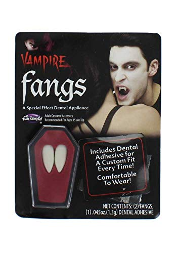 Vampire Fangs With Putty - Perfect For Halloween (Dress London In Fancy Halloween-party)