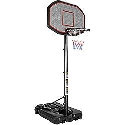 TecTake Panier de Basket sur Pied Mobile | avec Roues | Hauteur du Panier : 200-305 cm