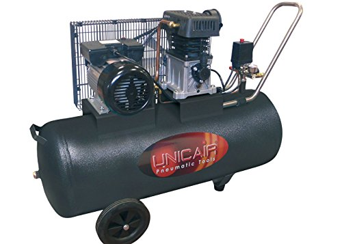 Compresor de aire UNICAIR CC-3/50L. 50 litros 3 HP. Transmisión por correa.