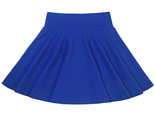 Donna Gonna Corta Svasata Pattinaggio Minigonna Vitalità Multifunzione Elastica Solida Colore - Blu