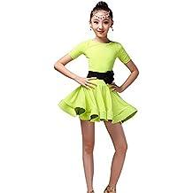 Amazon.es  vestidos baile latino niña - Verde eadd62e96b4
