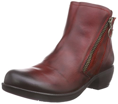 FLY London Meli, Damen Chelsea Boots, Rot (Red 001), 39 EU (6 Damen UK) (Ferse Western-boot)