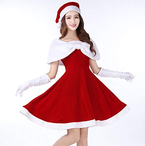 WFTD Santa Claus Kostüm Damen Tube Top Kleid -