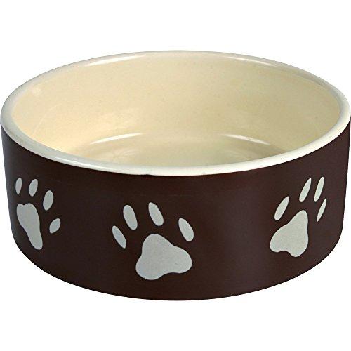 Trixie Feeder Ceramica, Footprints, Marrone / Crema 16 cm