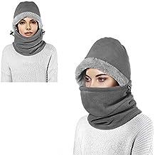 Enkarl Pasamontañas, Gorro de lana unisex, Máscara de esquí a prueba de viento,